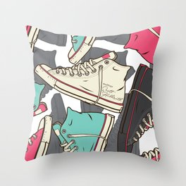 Chucks Throw Pillow