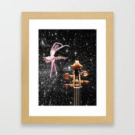 Violin and Ballet Dancer number 1 Framed Art Print