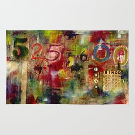 525,600 Minutes Collage Rug