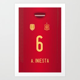 iPhone6 Iniesta Mobile Case Art Print