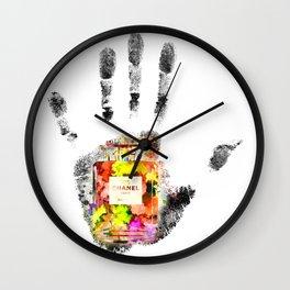 Handprint No 5 Wall Clock