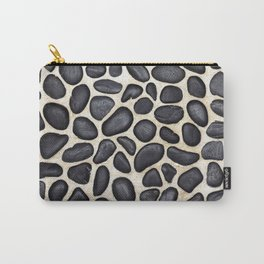 Black Pebble Floor Set in Cement Carry-All Pouch