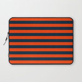 Orange Pop & Navy Blue Tent Stripe Laptop Sleeve