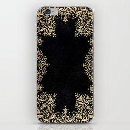 Black and Gold Filigree iPhone Skin