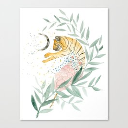 Sleeping Tiger Canvas Print
