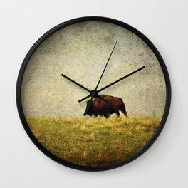 Lone Buffalo Wall Clock