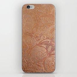 Floral copper iPhone Skin