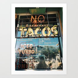 Tacos in Austin, TX Art Print