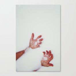 Milk Hands Canvas Print