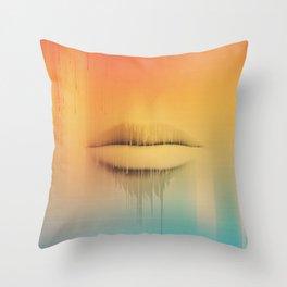 Data Kiss Throw Pillow