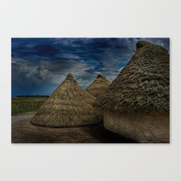 Straw Huts Canvas Print