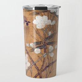 Sparrows, plum blossoms, and bamboo Travel Mug