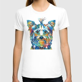 Colorful Yorkie Dog Art - Yorkshire Terrier - By Sharon Cummings T-shirt