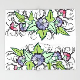 Abstract floral background Throw Blanket