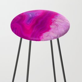 Pink ectoplasm agate Counter Stool