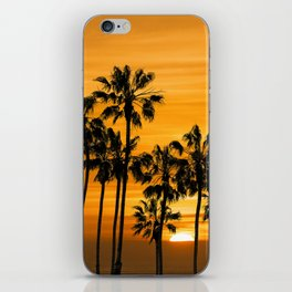 Palm Trees at Sunset by Cabrillo Beach Los Angeles California iPhone Skin