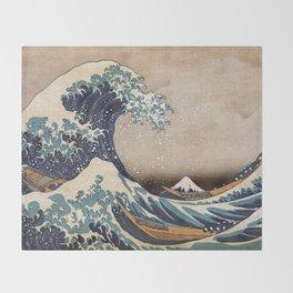 The Great Wave off Kanagawa Throw Blanket