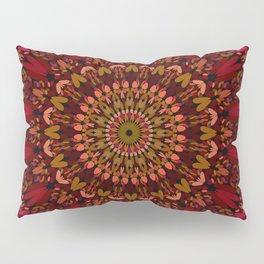 Bohemian Geometric Flower Mandala Pillow Sham