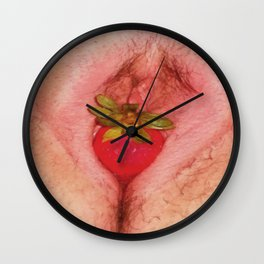 ORAL SEX WITH STRAWBERRY ICE CREAM : LICK MY PUSSY FUCK Wall Clock
