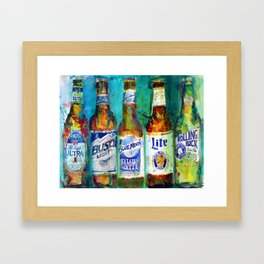 Pabst Blue Ribbon Beer Print By Dorrie Rifkin Watercolors