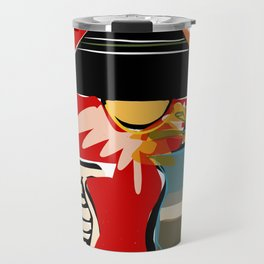 Still life with lamp and flowers Travel Mug