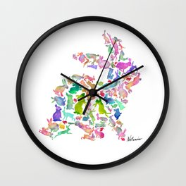 Soul Bunny - Spring Time Wall Clock