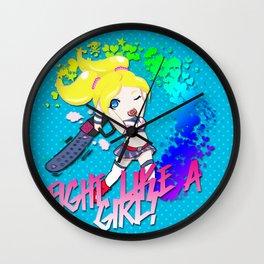 Fight Like Juliet Wall Clock
