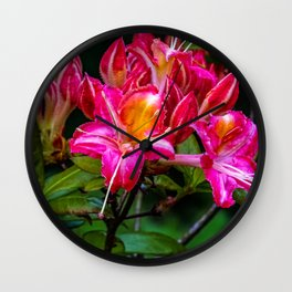 Pink flowers/ Wall Clock