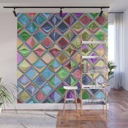 Cartoon Candy Drops Colorful Mosaic Art Wall Mural