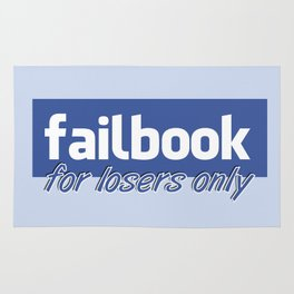 Failbook for losers only Rug