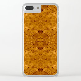 Golden Sequin Pattern Clear iPhone Case