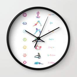 7 Chakras Wall Clock