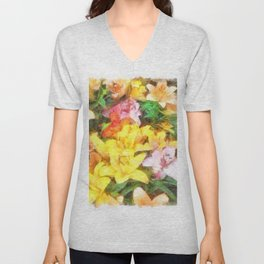 Lilies Love and Light Unisex V-Neck