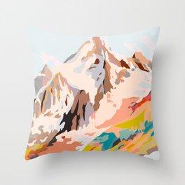 glass mountains Throw Pillow