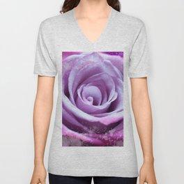 Rose of Love #Pink #Purple #art #society6 Unisex V-Neck