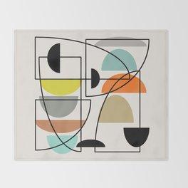 "Mid Century Modern ""Bowls"" Throw Blanket"