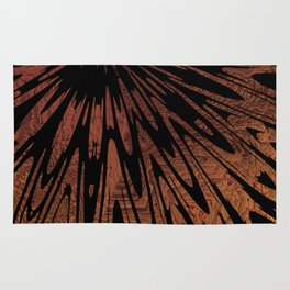 Native Tapestry in Burnt Umber Rug