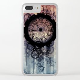 Steampunk clock Clear iPhone Case