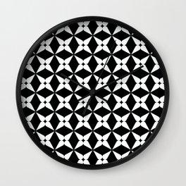 Geometric Pattern 247 (white crosses) Wall Clock