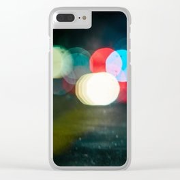 Northern California Lights Clear iPhone Case