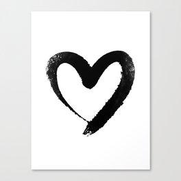Ink Heart Minimal Fashion Stylish Canvas Print