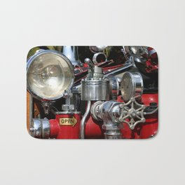 Old Fire Truck Bath Mat