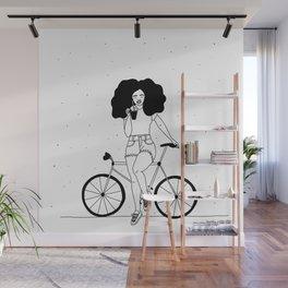 girl on a bike Wall Mural