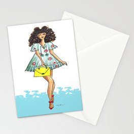 Beach girl Stationery Cards