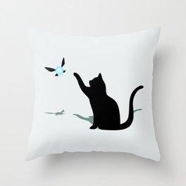 Cat and Navi Throw Pillow