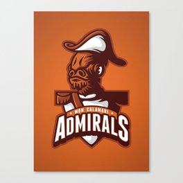 Mon Calamari Admirals on Orange Canvas Print