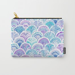 Mystical MERMAID DAYDREAMS Watercolor Scales Carry-All Pouch