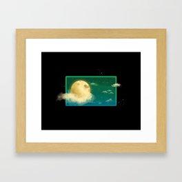 Teal Night Sky Framed Art Print