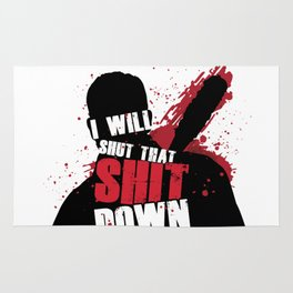 I Will Shut That Sh*t Down (Negan - The Walking Dead) Rug