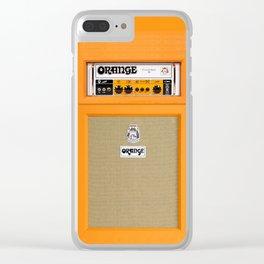 Bright Orange color amplifier amp Clear iPhone Case